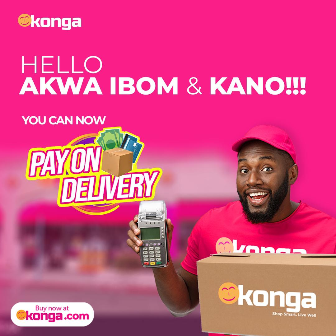 Konga extends payment on delivery to Akwa Ibom, Kano